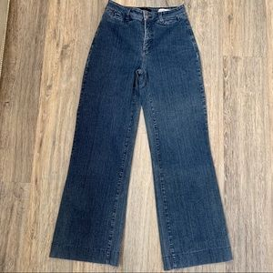 NYDJ Dark Denim with Wide Leg Flare size 4